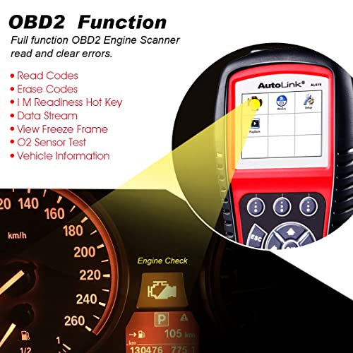 Autel AL619 is the one of the best OBD2 Scanners with ABS and SRS on the market.
