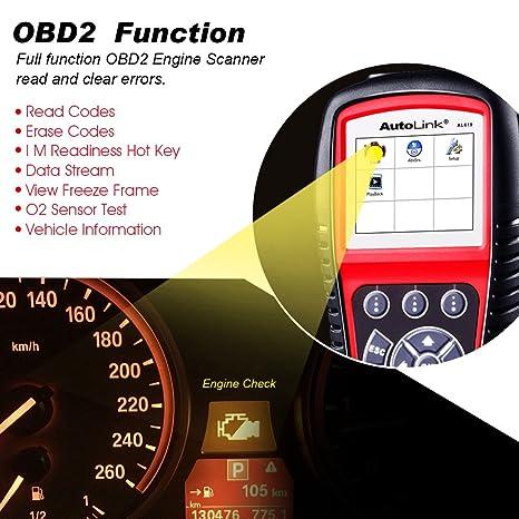 Amazoncom Autel Al619 Autolink Engineabssrs Auto Obd2 Scanner