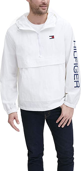 Tommy Hilfiger 汤美费格 Retro 轻质男式连帽风衣夹克外套 2.6折$32 海淘转运到手约¥256