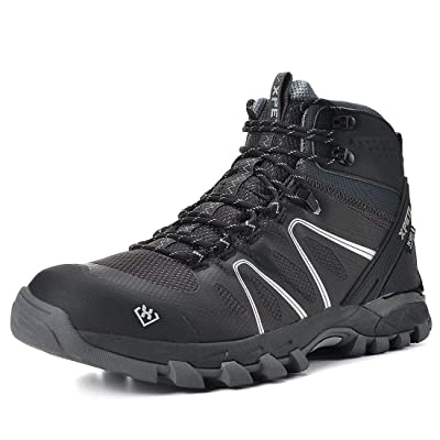 SKENARY Men's Mid Waterproof Hiking Boots, Breathable with High-Traction Grip Hiking | Hiking Boots