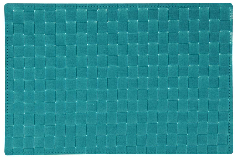 Platzset Tischset GEFLOCHTEN petrol blau 43x30cm Kunststoff Kesper