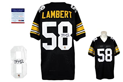 best loved 5f8dd 9fd05 Jack Lambert Signed Custom Jersey - PSA/DNA - Autographed ...
