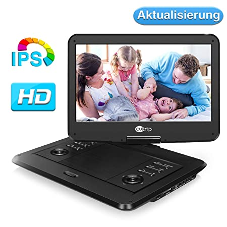 14 Zoll 178° IPS Tragbarer DVD Player Portable Fernseher Kinder Monitor Drehbarer Bildschirm 1920x1080 Full HD Video Filme 14