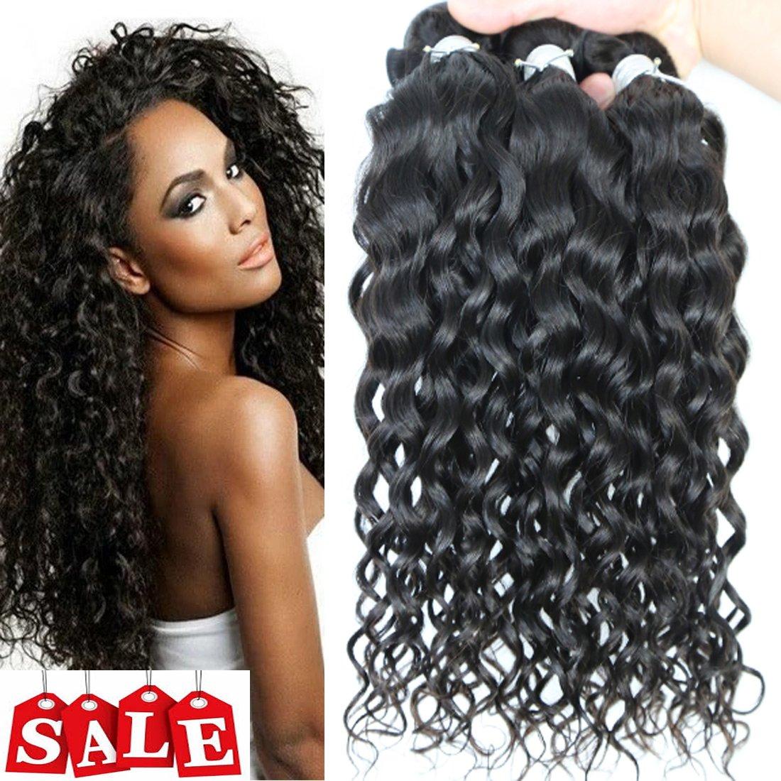 Amazon 3pcs Brazilian Natural Wave Virgin Hair Curly Weave