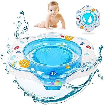 Sinwind Anillo de natación Bebe, Anillo de natación Asiento, Piscina Hinchables Niños Flotadores para Bebe con Asiento Anillo de Natación para Bebés de 1-4 Años