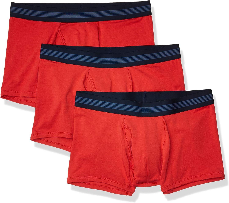 Goodthreads Mens Standard 3-Pack Cotton Modal Stretch Knit Trunk Underwear Brand