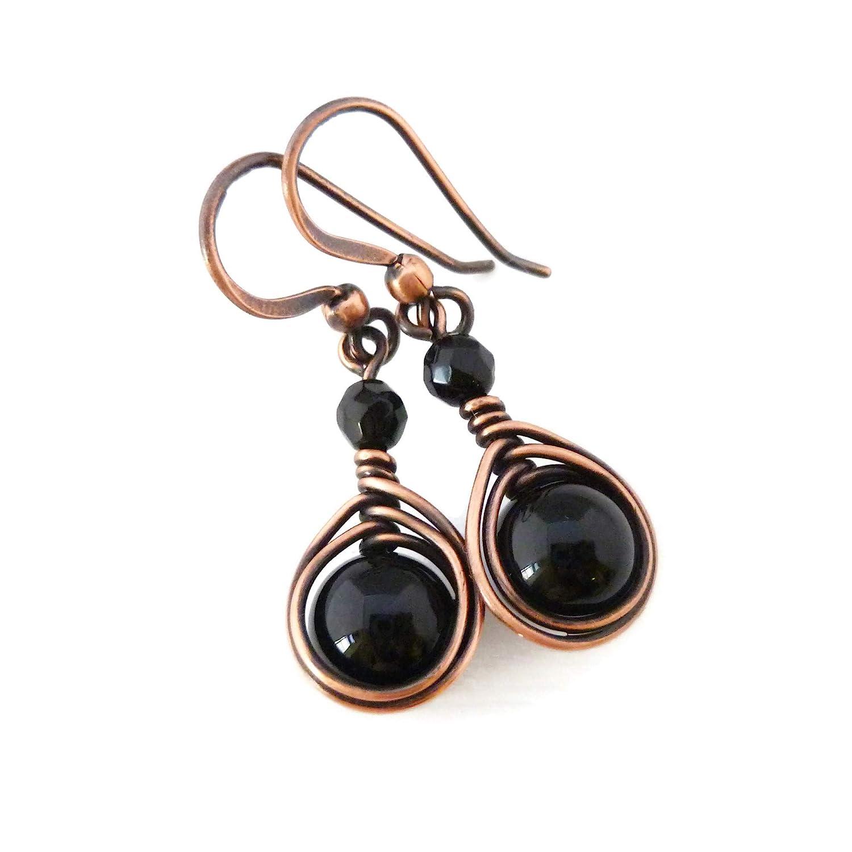 Aventurine /& Turquoise Raw Stone Earrings Gemstone Earrings Copper Wirewrapped Earrings OOAK Gift 4 Her Under 100 Handmade Earrings Citrine