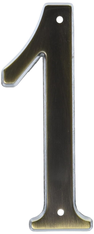 Baldwin 90671050# 1 House Number, Antique Brass Top Notch Distributors Inc. (Home Improvement)