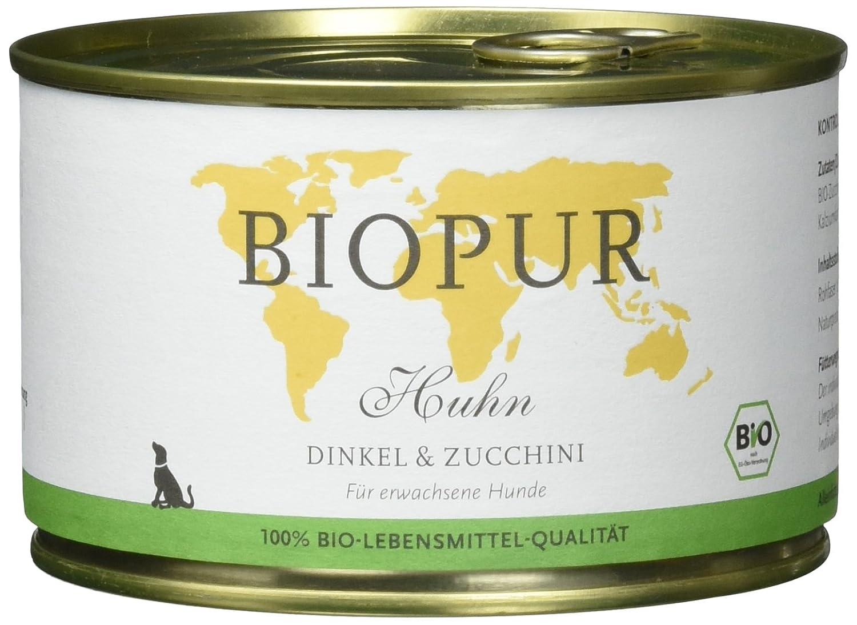 BIOPUR Organic Dog Food, 400 g [Pack of 12 x 400 g