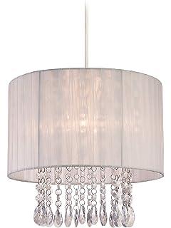 Firstlight - Lámpara de techo de organza con lágrimas de ...