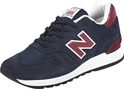 New Balance 670 Navy & Claret Suede Trainers-UK 6.5: Amazon ...