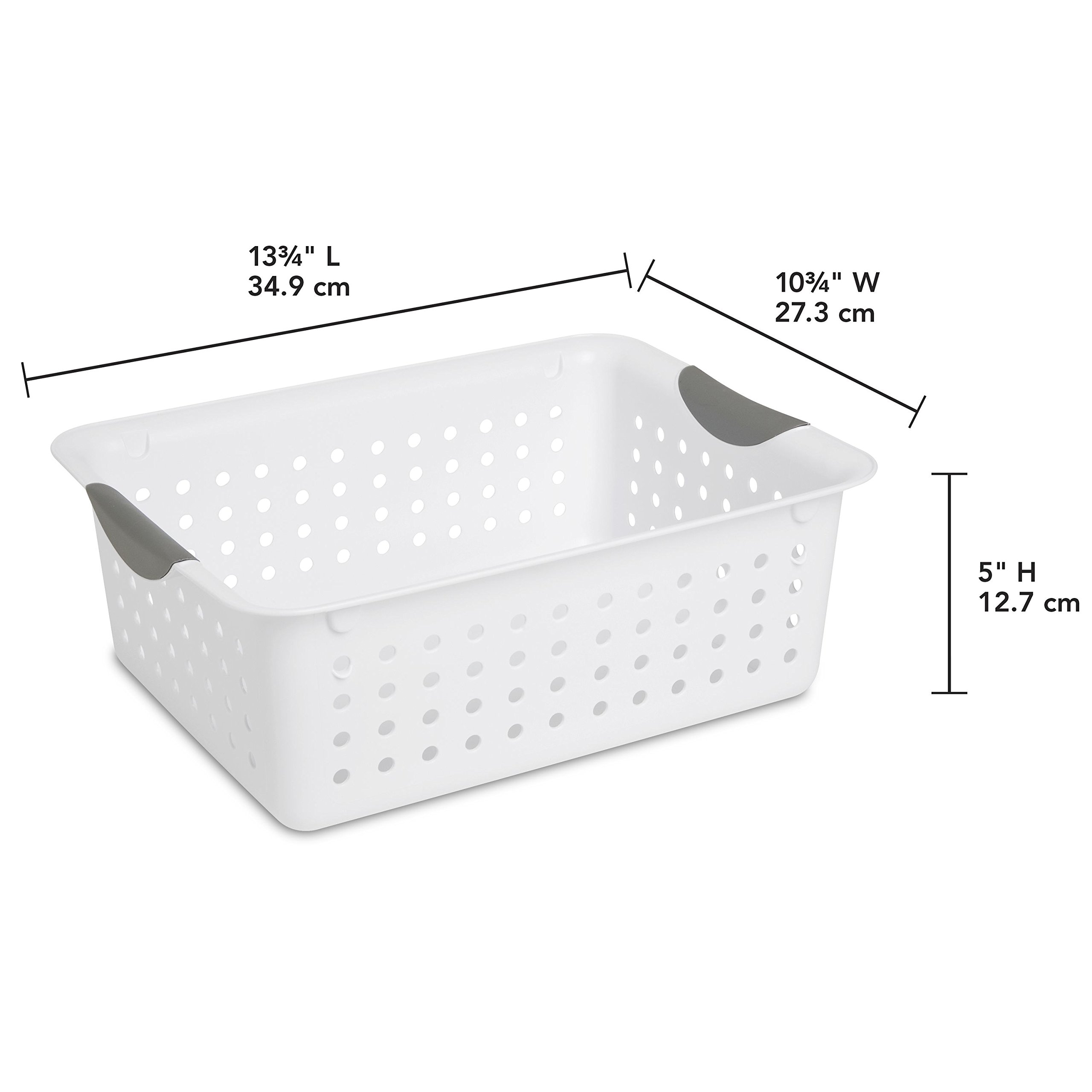 STERILITE 16248006 Medium Ultra Basket, White Basket w/Titanium Inserts, 6-Pack by STERILITE (Image #3)