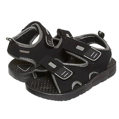 7456eb3d87d91 Skysole Boys Double Adjustable Strap Lightweight Sandals Black/Grey 5/6 US  Toddler