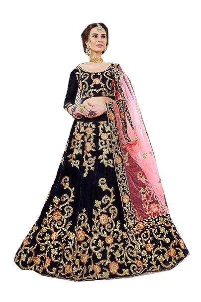 fe8a348d71 Fashions Trendz Indian Women Designer Partywear Ethnic Traditional Nevy Blue  Lehenga Choli.: Amazon.ca: Clothing & Accessories