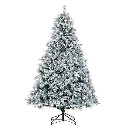 MMJ Extinguished Christmas Tree - Flocking, Artificial Pine Cone Red  Berries, 7.5 Feet, - Amazon.com: MMJ Extinguished Christmas Tree - Flocking, Artificial