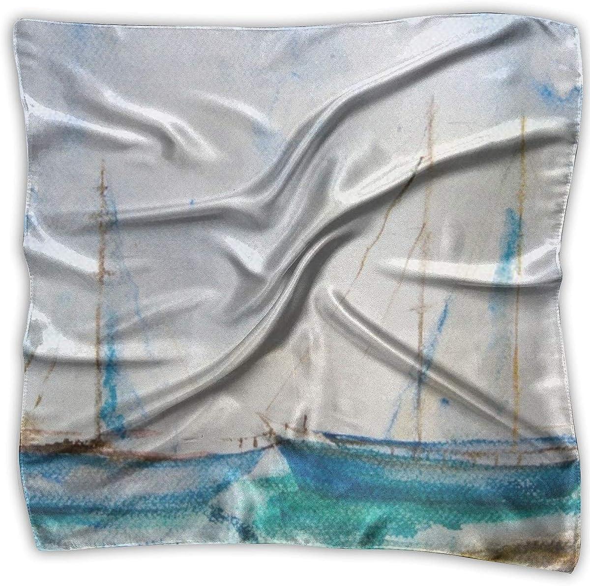Womens Silk Scarf Millions Of Starfish Printed Square Scarf Sunscreen Shawls 39 X 39