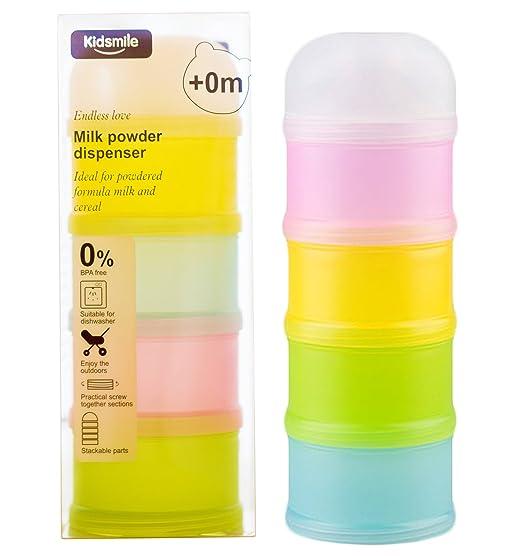 2 opinioni per Dosatore per latte in polvere, Kidsmile BPA Libero Impilabile Scatola per latte