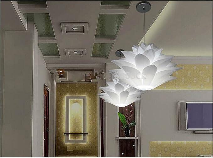 Lily fiori lampada illumina ciondolo materiale di pvc diametro