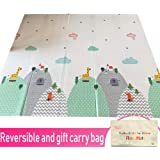 Infant Shining Baby Play Mat, Reversible Foldable Mat 2x1.8 M, Extra Large Waterproof and Antislip Rug Starry Mountain
