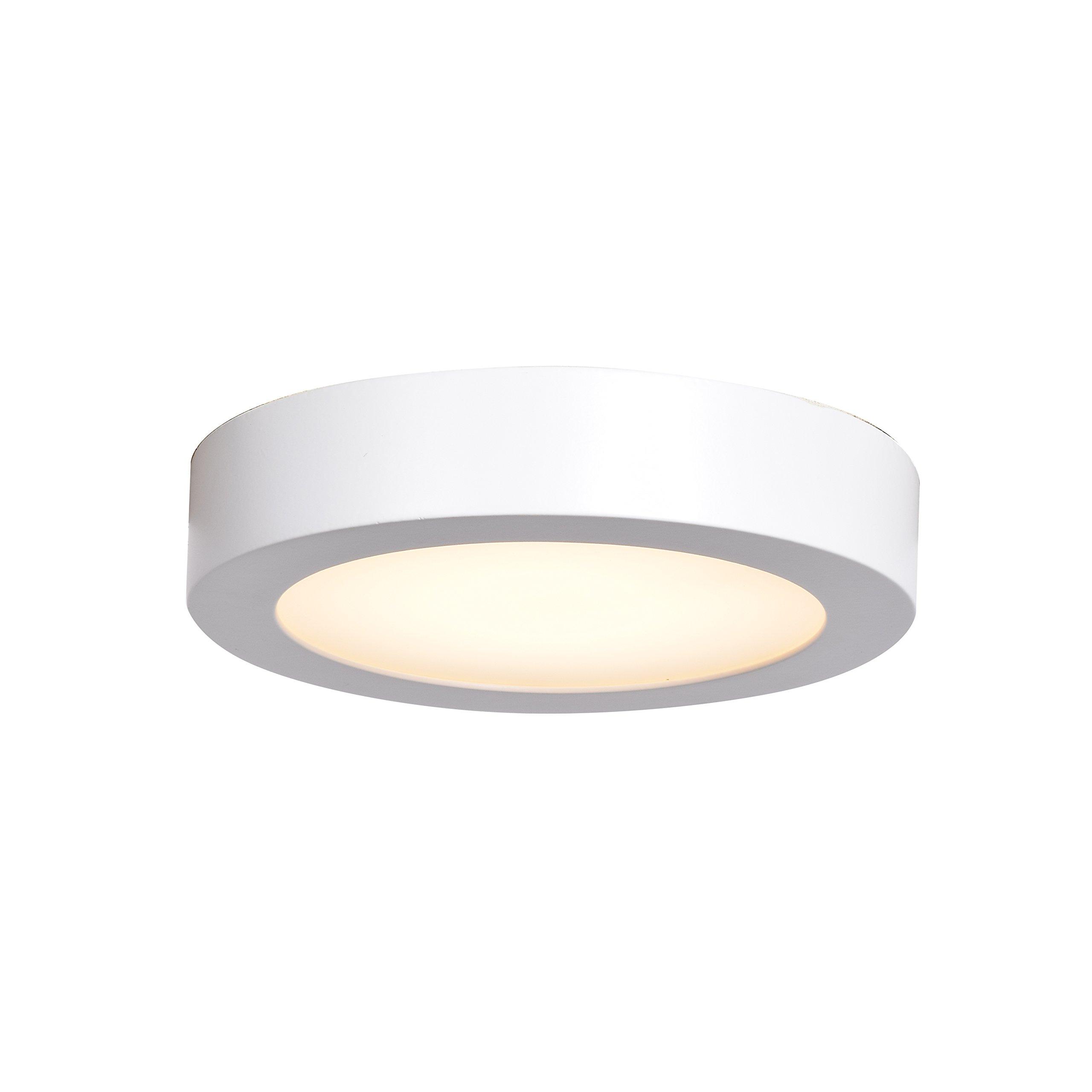 Ulko Exterior LED Outdoor Flush Mount - 7'' D - White - Acrylic Lens Diffuser