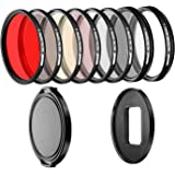 Neewer 58mm Filter Kit for GoPro 5 and GoPro 6 Includes Pro 58mm Filter Set (UV, CPL, FLD, ND2, ND8, Star 8, Red, Yellow Filters) with Adapter Ring and Lens Cap(GoPro NOT Included)