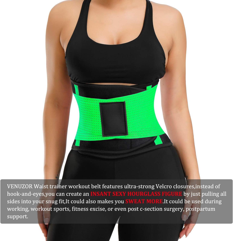 Waist Cincher Trimmer Weight Loss Ab Belt VENUZOR Waist Trainer Belt for Women Slimming Body Shaper Belt Sport Workout Back Support Girdle Belt