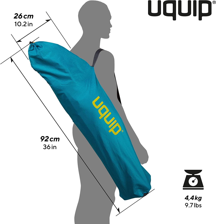 Capacidad de Carga MAX Respaldo reclinable en 3 Posiciones Diferentes Apoyabrazos con Soporte para Bebidas 120 Kg Uquip Becky Silla de Camping