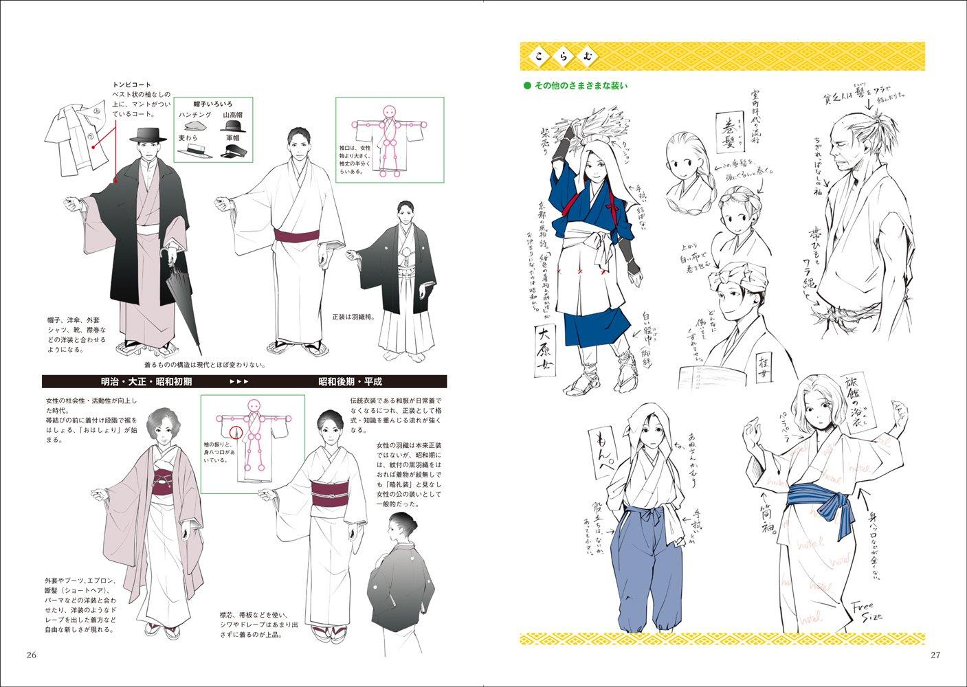 和装の描き方 玄光社mook Yanami 二階乃書生 Jukke 菊地ひと美
