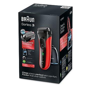 Braun Series 3-3050cc Rasierer, rot: Amazon.de: Küche & Haushalt