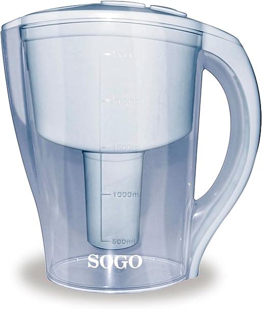 Sogo Jarra purificadora de Agua - 2,5 L: Amazon.es: Hogar