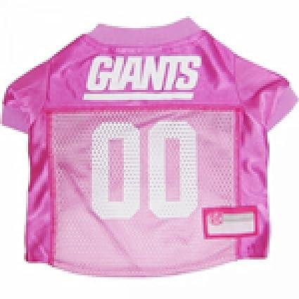 92d459cf20d Amazon.com   New York Giants Dog Jersey Pink