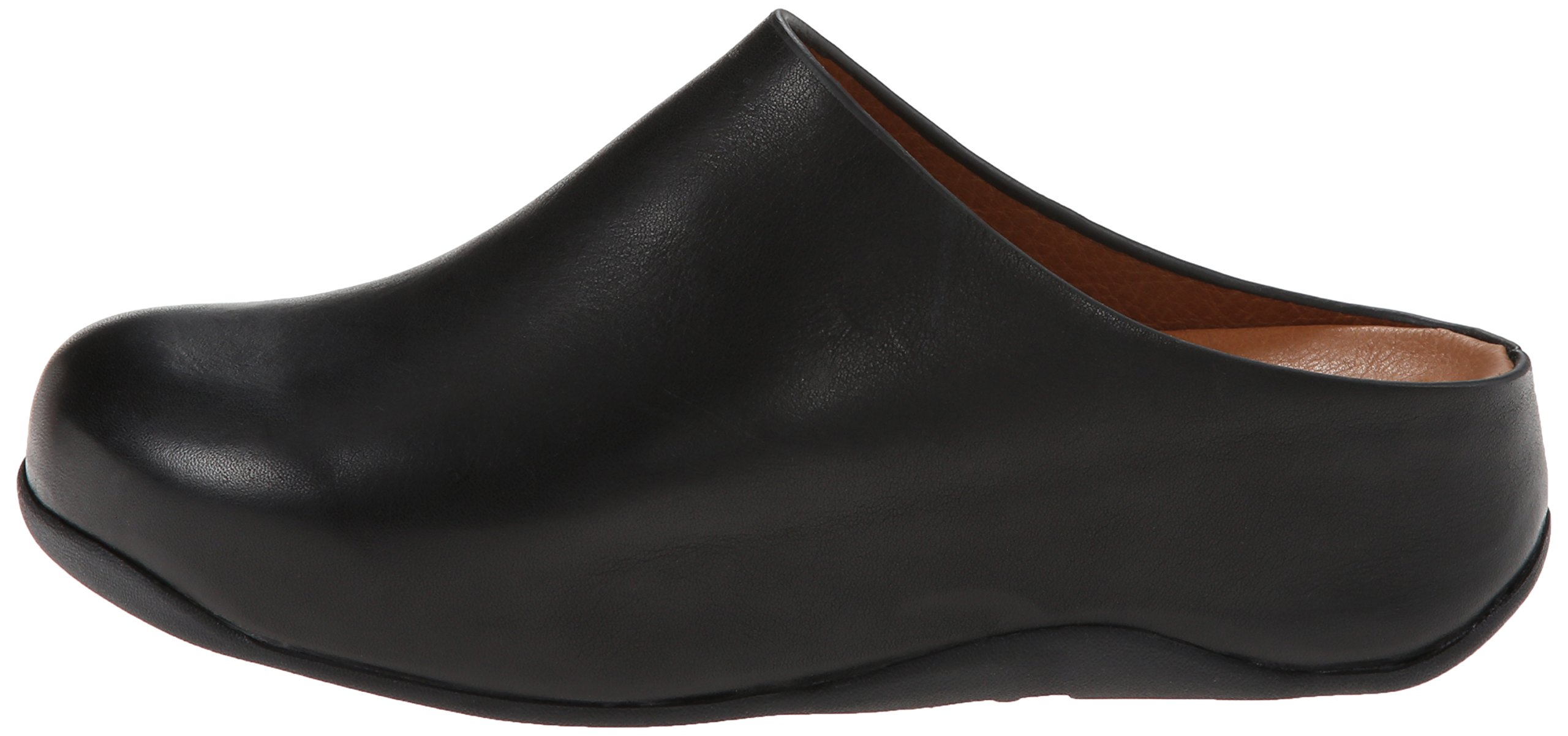 FitFlop Women's Shuv Leather Clog,Black,5 M US by FitFlop (Image #5)