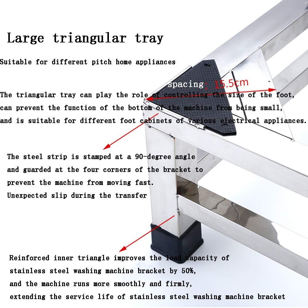 Base De Acero Inoxidable De Doble Capa Base Universal con Soporte De 4 Pies Fuertes para Refrigerador Plateado Lavadora Tama/ño Opcional Tama/ño : 42x42x15cm