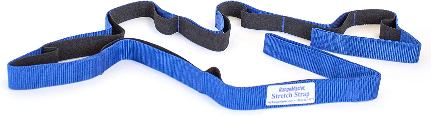 RangeMaster Stretch Strap with Exercise Guide│ Versatile Multi-Loop Strap Perfect for Yoga, Pilates, and Physical Therapy │ Portable │ Helps Improve Flexibility