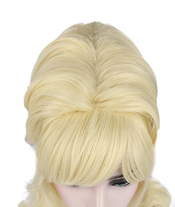 kalyss negro Beehive peluca de mujer, melena larga ondulada resistente al calor pelo sintético traje de Cosplay pelucas: Amazon.es: Belleza