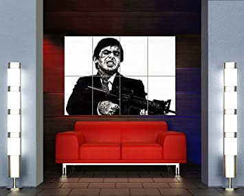 Amazon.com: Scarface Al Pacino Unique tatuaje Icono gigante ...