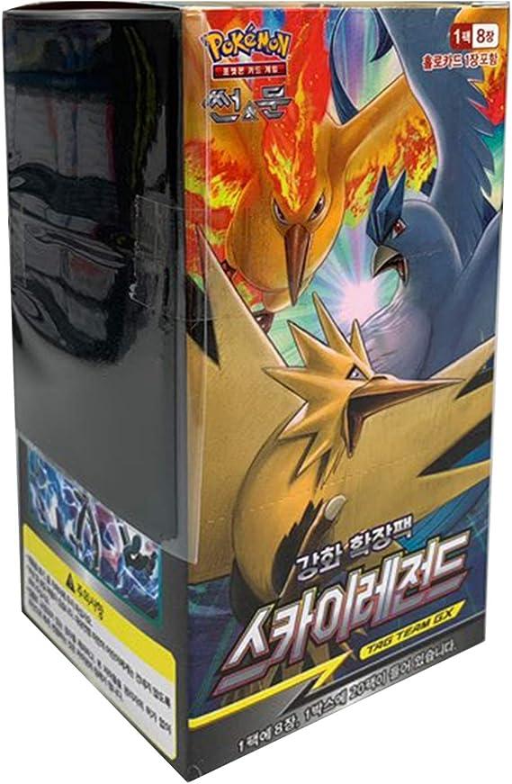 Pokemon Cartas Sun & Moon Reinforced Expansion Pack Caja 30 Packs + 3pcs Premium Card Sleeve Corea Ver TCG Sky Legends: Amazon.es: Juguetes y juegos