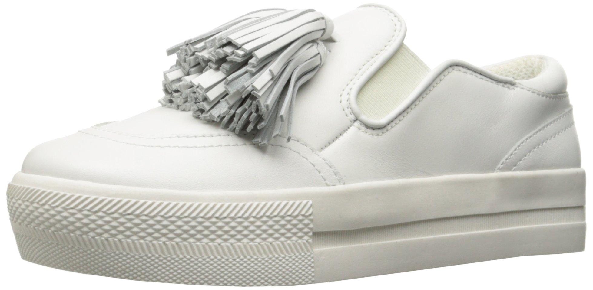 The Fix Women's Jasper Slip-on Tassel Fringe Fashion Sneaker, White, 8 B US