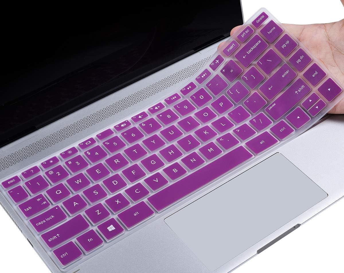 "CaseBuy HP Pavilion x360 Keyboard Cover 14 inch Compatible 2020-2018 HP Pavilion 14"" Laptop/HP Pavilion x360 14M-BA 14M-CD 14M-DH 14-BA 14-BF 14-cm 14-CF 14-DF 14-DK 14-DS 14-DQ Series, Purple"