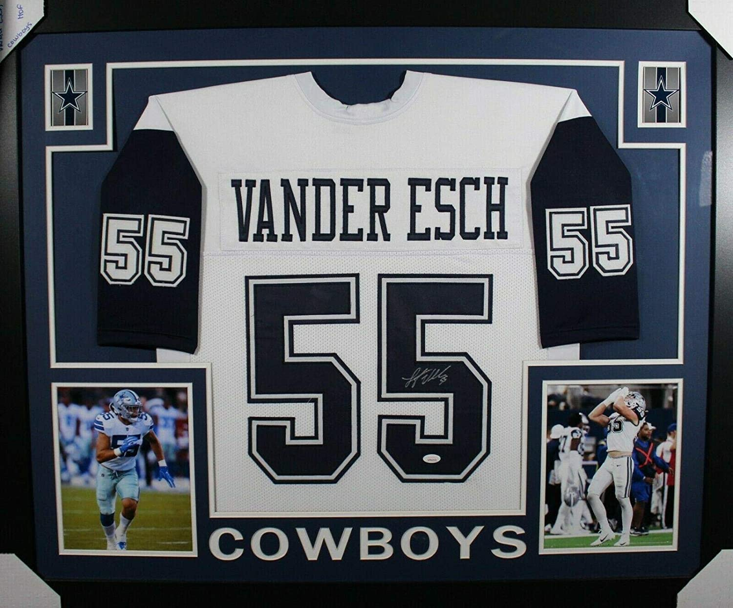 best authentic 7a868 203aa Signed Leighton Vander Esch Jersey - FRAMED COLOR RUSH w ...