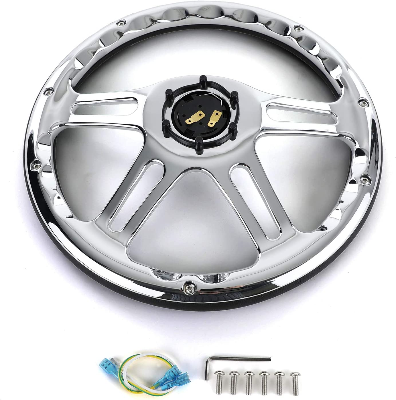 Tenzo-R 37982 Sport Lenkrad Exclusive 2 Leder Schwarz Chrom 340mm universal f/ür Momo Sparco