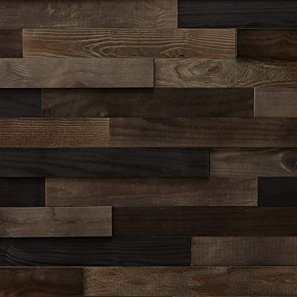 Timberwall Landscape Collection Black Rock Desert Diy Wood Wall Panel Solid Wood Planks Easy Peel And Stick Application 9 8 Sq Ft
