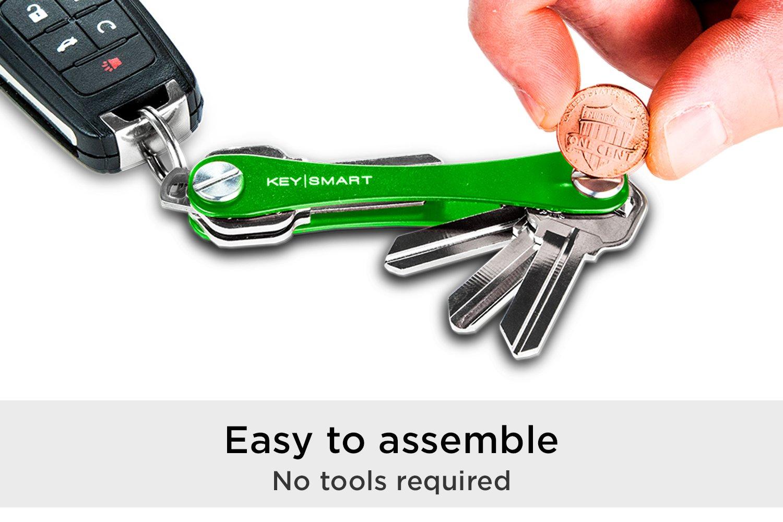 KeySmart Extended | Compacto Llavero y Organizador (2-8 Llaves, Verde)