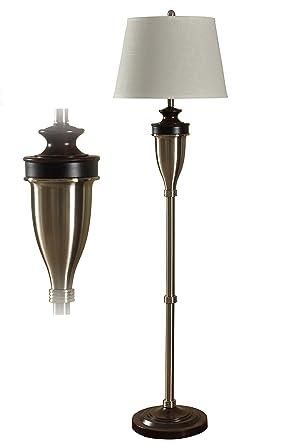 Stylecraft tradicional lámpara de pie en acero inoxidable ...