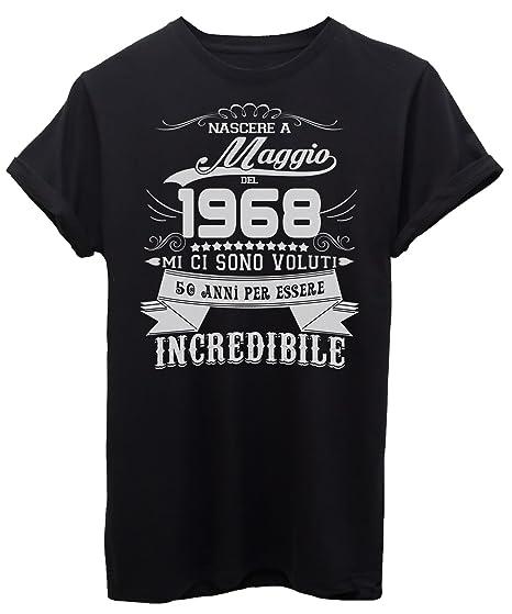 T Shirt Compleanno Nato A Maggio Del 1968 50 Anni Per Essere