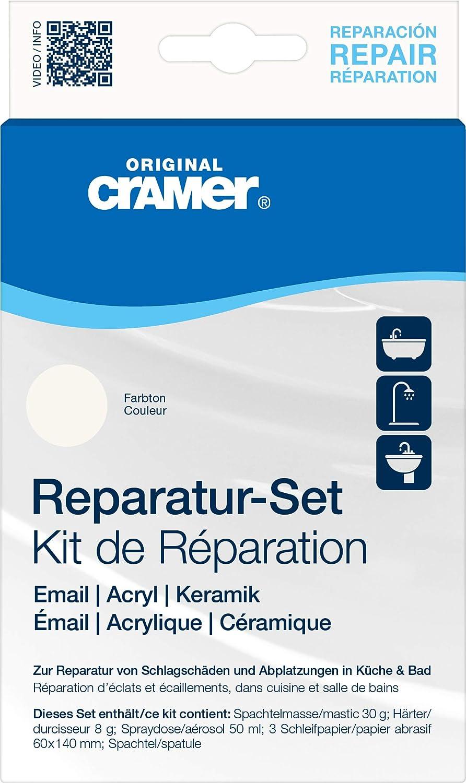 Cramer Ceramic / Enamel Repair Kit for Baths, Sinks and Counter Tops, Colour: Alpine White CRAMER GmbH S203AMZ