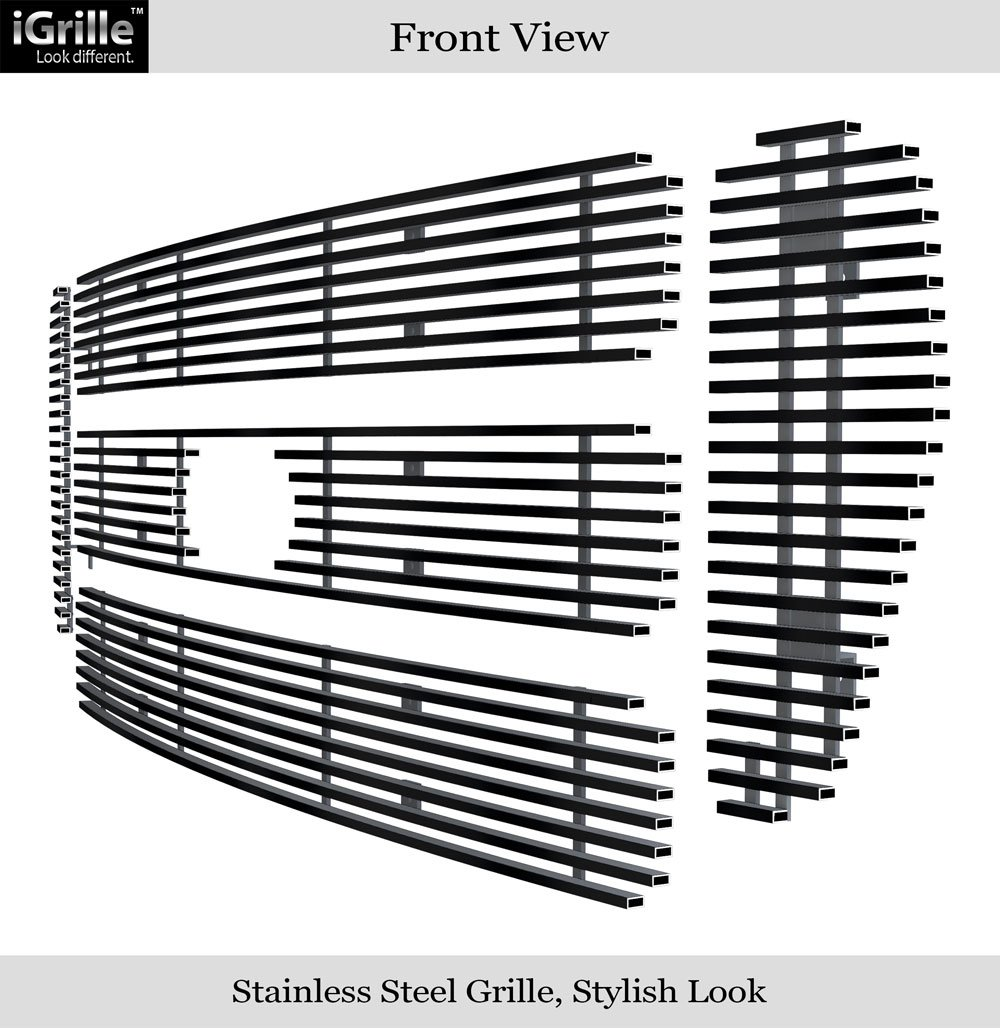 APS Polished Chrome Billet Grille Grill Insert #F65800A