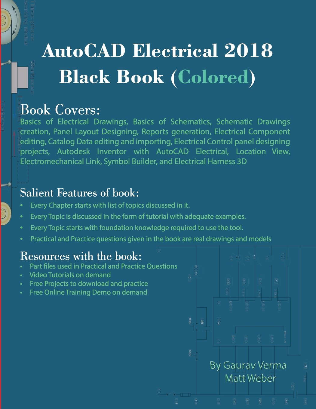 Autocad Electrical 2018 Black Book Colored Gaurav Verma Matt Schematic Weber 9781988722092 Books
