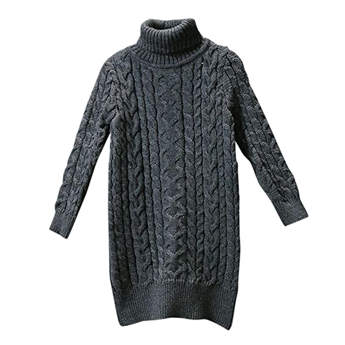Tenworld Toddler Girl Winter Clothes Turtleneck Knitted Sweater