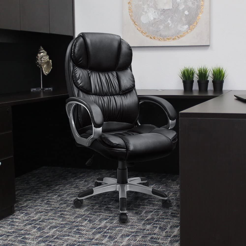 Furmax High Back Office Chair Adjustable Ergonomic Desk Chair with Padded Armrests